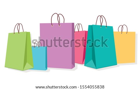 package for purchases for an online store on a white background