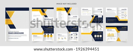 16 pages Professional corporate business brochure or booklet template, multi-page brochure design.