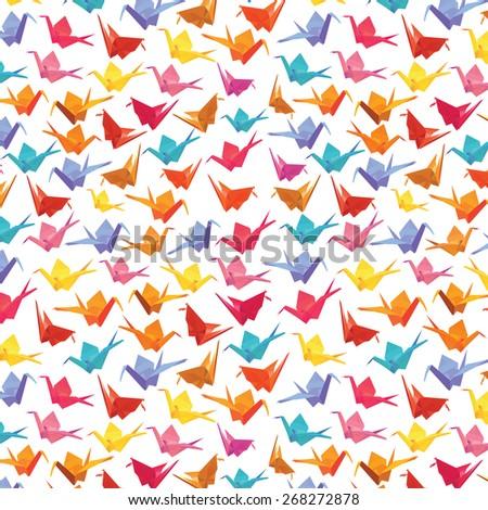 1000 paper cranes     colorful