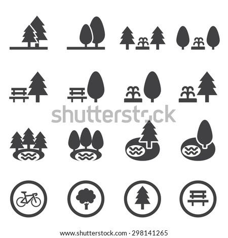park icon set
