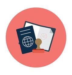 Passport Colored Vector Icon