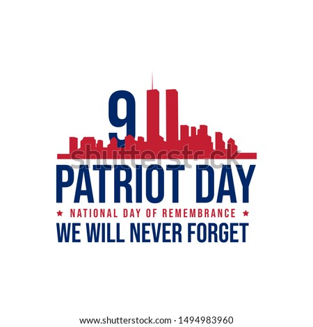 911 patriot day background patriot day september vector image.