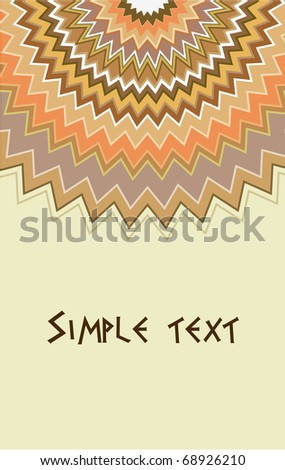 Patterned vector background with colorful toothed shapes