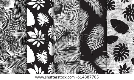 5 patterns with black and white