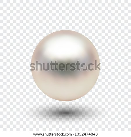 pearl  vector ball with shadow