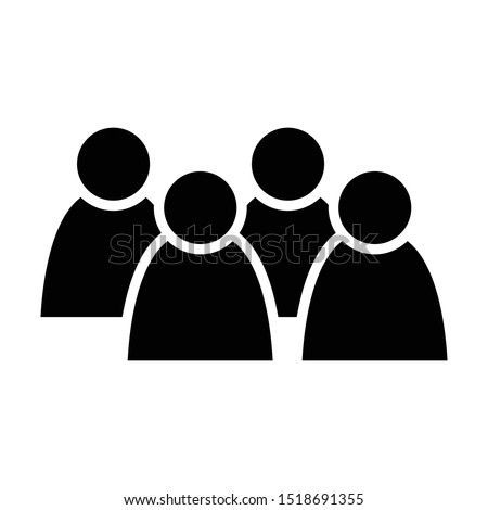 4 people icon. Group of persons. Simplified human pictogram. Modern simple flat vector icon. Stockfoto ©