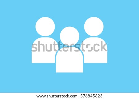 3 people icon vector illustration.