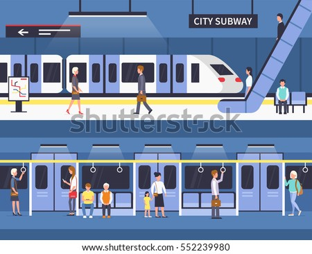 people in city subway