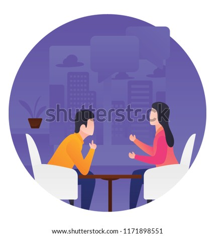 People in one on one meeting