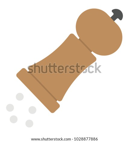 Pepper mill, hand grinder flat icon