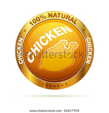 100 percent chicken | isolated editable vector graphic