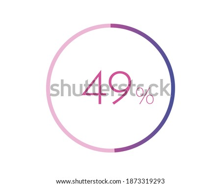 49  percent circle chart symbol