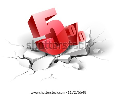 5 percent discount icon on