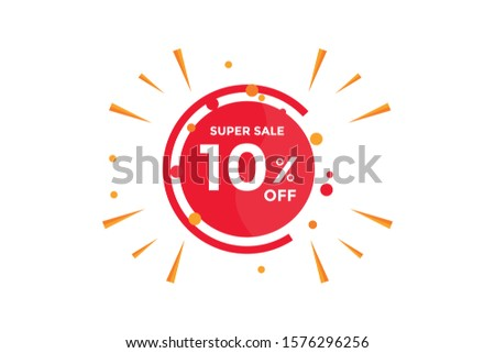 10 percent DISCOUNT IN Banner Sales Discounts. Discounts for offers. Special Offer, Discount Label vector template