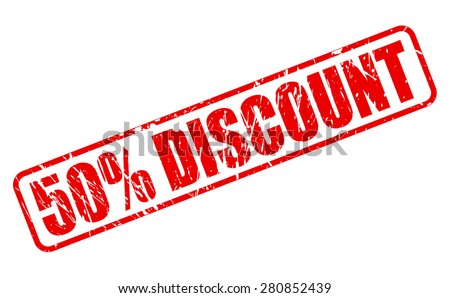 50 percent discount red stamp