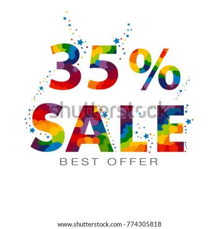 35 percent discount sale