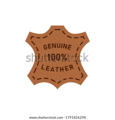 100 percent genuine leather logo vector icon illustration Foto stock ©