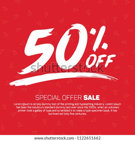 50 Percent off Offer Tag Banner Advertising Promotional Poster  Design Vector Offers Mobile Fashion Electronics Home Appliances Books Jewelry