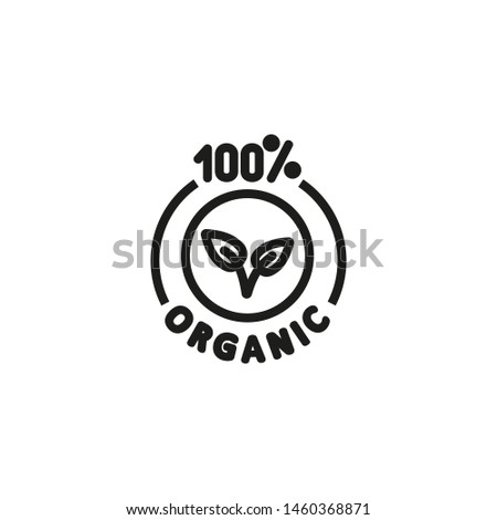 100 percent organic line icon. Nature, ecologically friendly, product. Organics concept. Vector illustration can be used for topics like environment, ecology, food