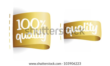 100 percent quality gold labels set.