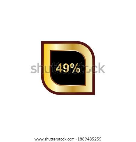 49 percent sign vector design