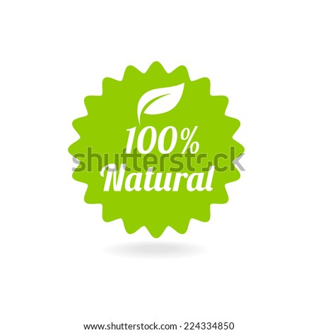 100 percent vector natural label