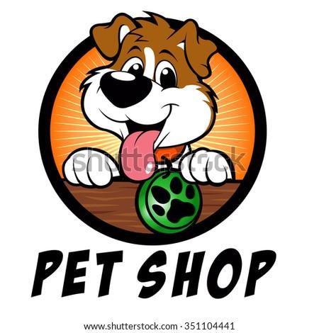 pet shop dog logo stock vector 351104441 shutterstock