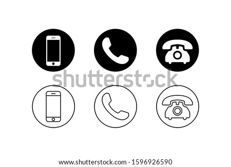 Phone icon vector on white background. Call icon vector. mobile phone smartphone device gadget. telephone icon