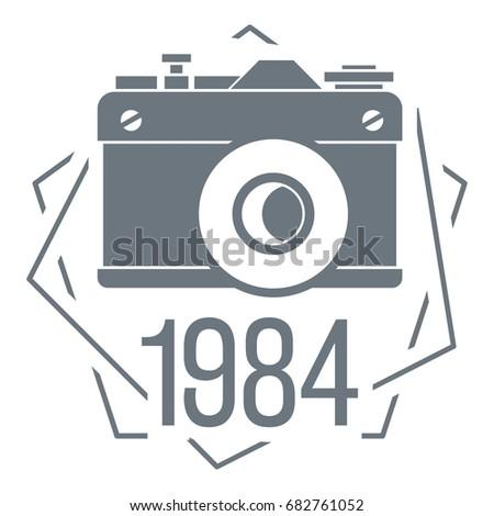 1984 photo camera logo simple