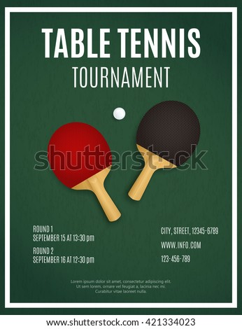 table tennis tournament template - shutterstock puzzlepix