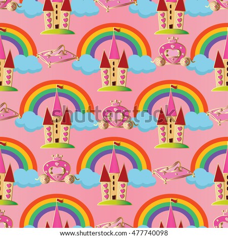 pink vector seamless pattern