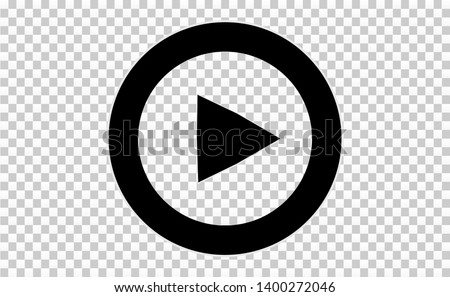 Play button. Vector illustration. Icon button.