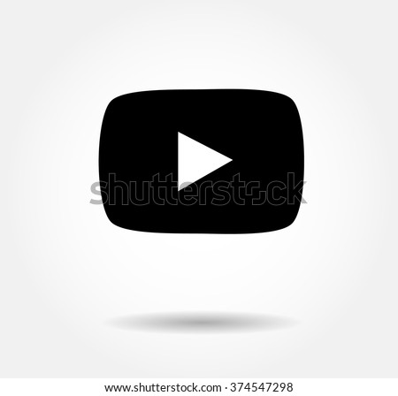 Play Vector Logo, JPG, JPEG, EPS Icon Button.youtube Flat Social Media Background Sign Download