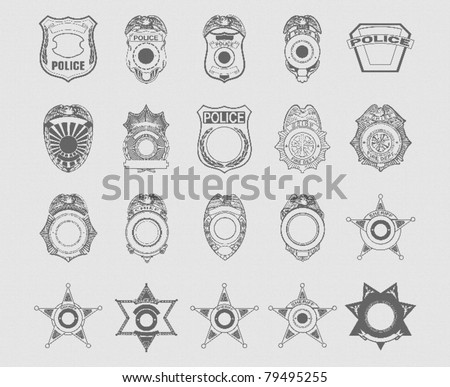 Police and Sheriff Badges