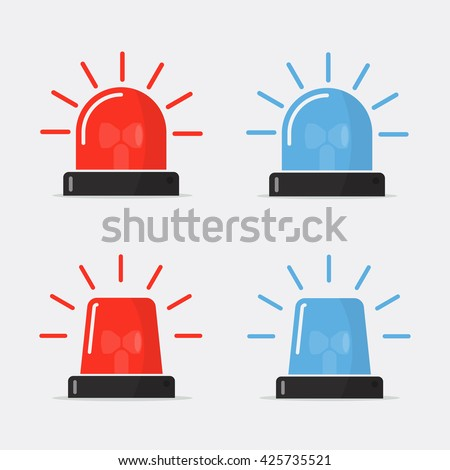 police flasher  siren vector