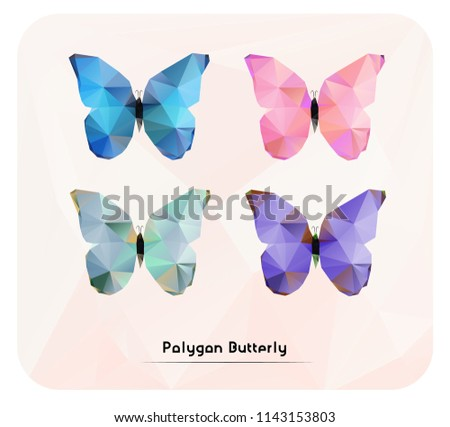 4 polygon abstract butteries