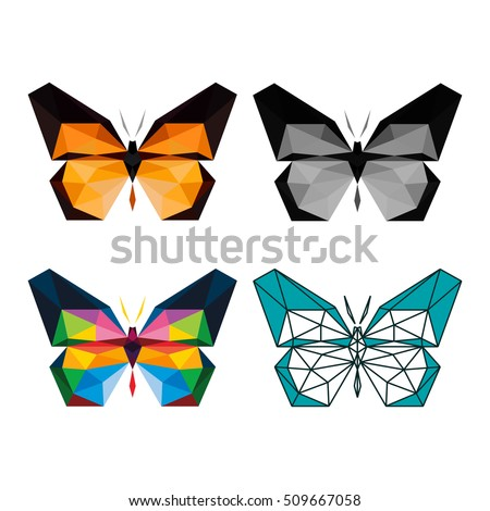 polygon animal butterfly