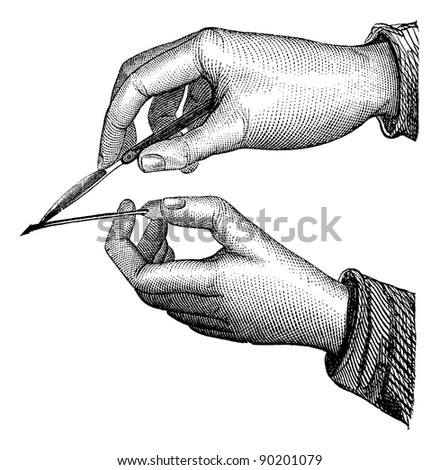position of the scalpel and...