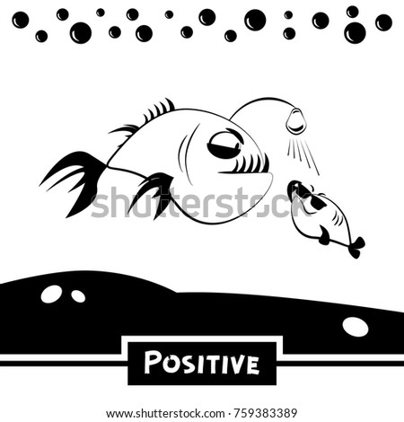 positive funny fish
