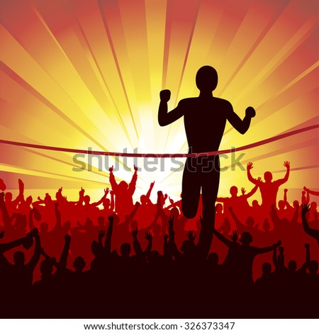 poster running man finish