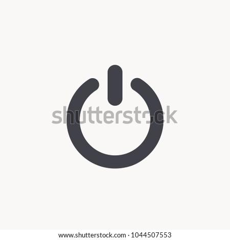 power button vector EPS10