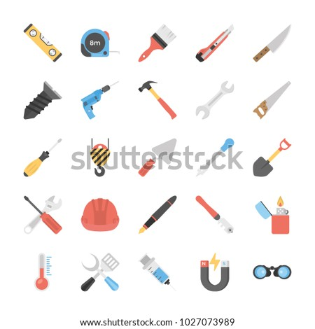 Power Tools Flat Vector Icons