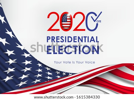 2020 Presidential Election. 2020 United States of America Presidential Election. Vote America Presidential Election Vector Design.