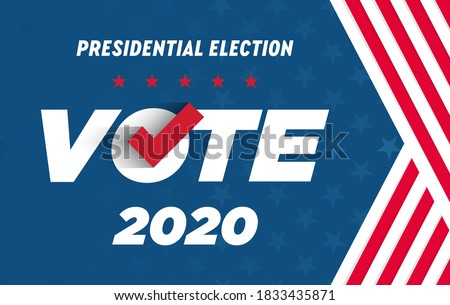 2020 Presidential Election. 2020 United States of America Presidential Election. Vote America Presidential Election Vector Design. Vote day, November 3. US Election.