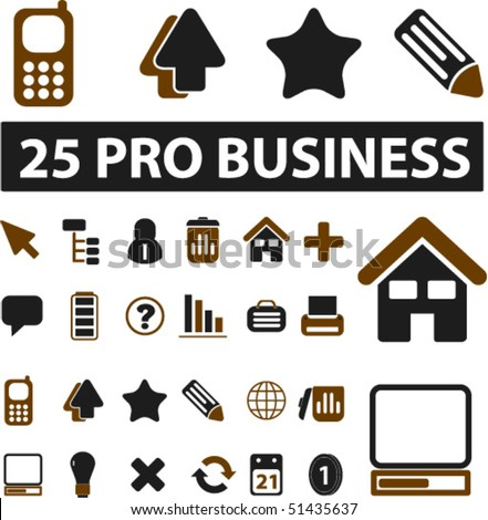 25 pro business signs. vector