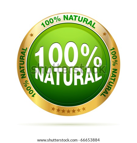 100 procent natural   editable vector graphic