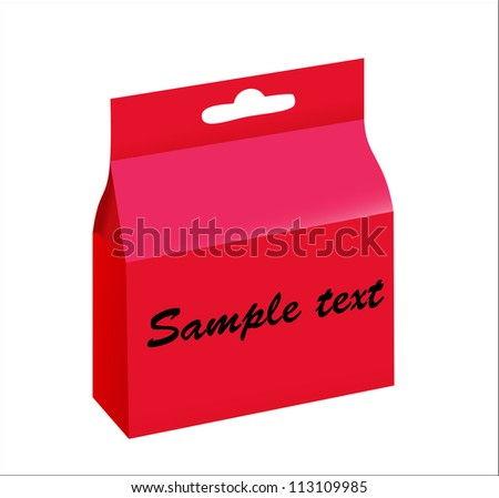 Product Package Box Illustration Isolated On White