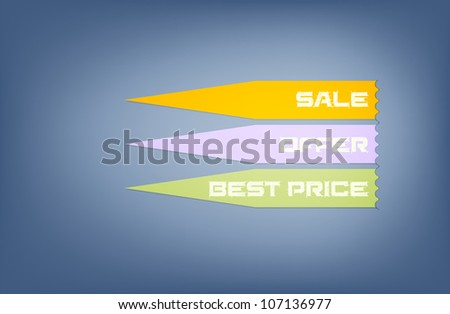 promotional tags design, free copy space, vector illustration