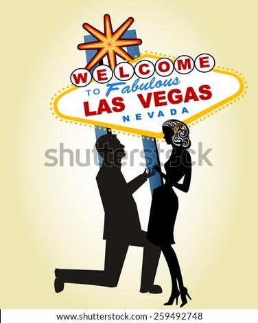 proposal at famous las vegas