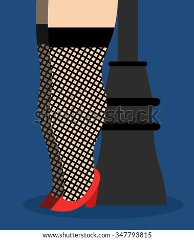 prostitute lamppost